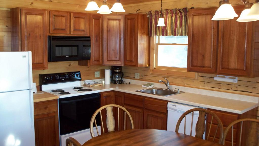 Kitchen in Pittsburg, NH cabin